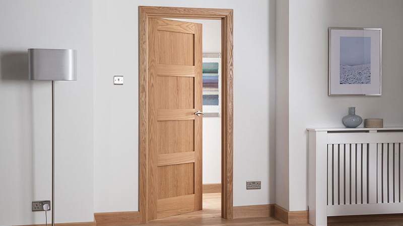 Cheshire Shaker Oak Interior Door Gallery Image