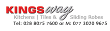 Kingsway Kitchens Tiles & Sliding Robes Omagh Logo