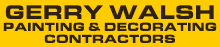 Gerry Walsh - Painting & Decorating Contractors Logo